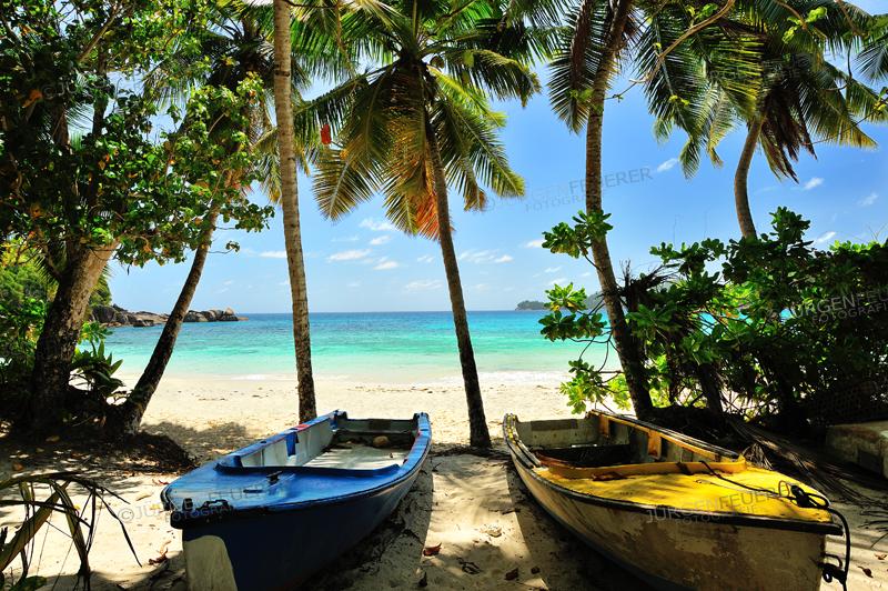 Anse Takamaka, Beach on Island Mahe, Seychelles